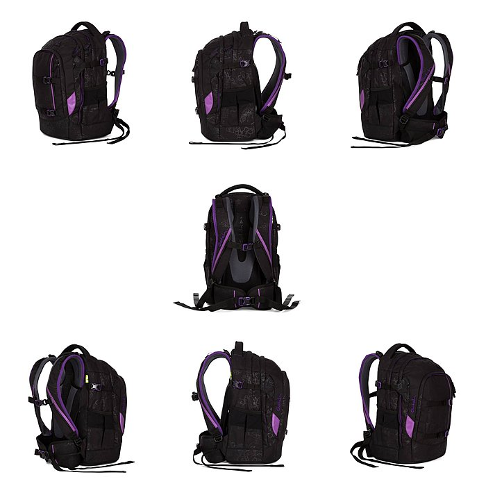 222a76fc286f1 Satch Pack Purple Hibiscus 3 tlg. Set inkl. Sporttasche ...
