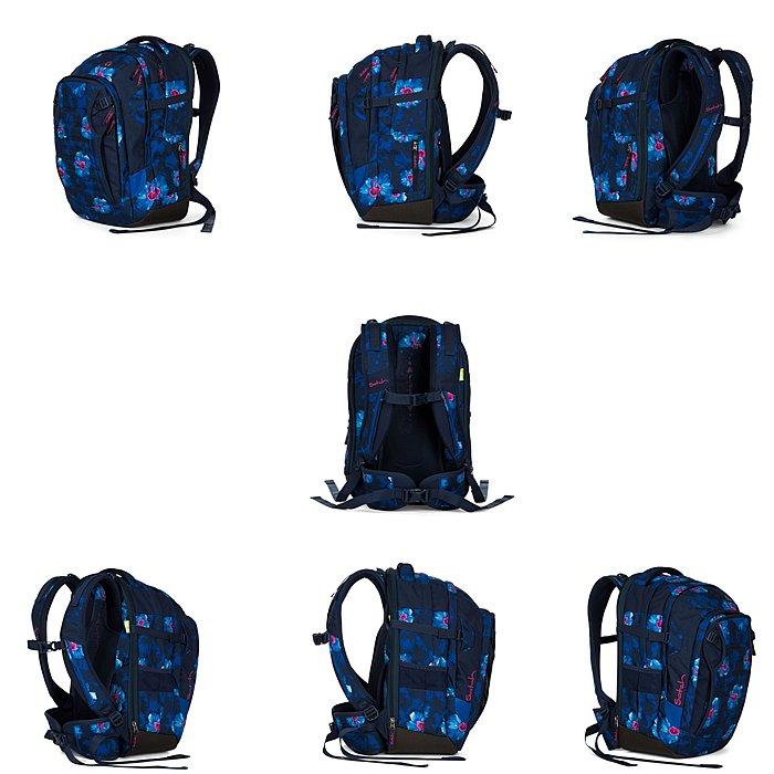 f971d44807c4e Satch Match Waikiki Blue Schulrucksackset 4 teilig Satch Match Waikiki Blue  Schulrucksackset 4 teilig