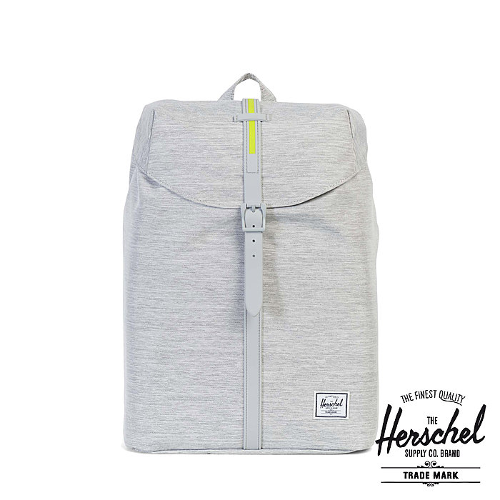 Herschel Post Mid-Volume Light Grey Crosshatch Light Grey Rubber günstig kaufen im  Schulrucksack Online Shop