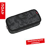 4YOU Pencil Case mit Geodreieck Camou Black 320, schwarz grau