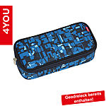 4YOU Pencil Case mit Geodreieck Geometric Blue 312, blau