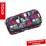 4YOU Pencil Case mit Geodreieck Squares Mint