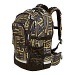 4YOU Schulrucksack Jump Stripes, 30 Liter Volumen und Laptopfach