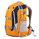 Schulrucksack satch by ergobag orange dunkelblau