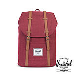 Herschel 19,5 Liter Rucksack Retreat, Winetastin Crosshatch