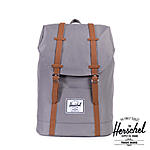 Herschel 19,5 Liter Rucksack Retreat Grey, inkl Laptopfach