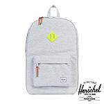 Herschel Heritage Schulrucksack Light Grey Crosshatch Acid Lime