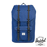 Herschel Little America Eclipse Crosshatch Black Rubber