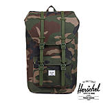 Herschel Little America Woodland Camo Army Rubber