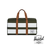 Herschel Novel Duffle Forest Night White Rugby Stripe Sporttasche