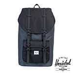 Herschel Schulrucksack Little America Dark Shadow Black Rubber