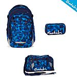Satch Match Blue Crush Schulrucksack Set 3tlg