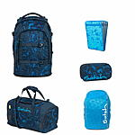Satch Pack Blue Compass Schulrucksack Set 5tlg