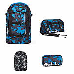 Satch Pack Blue Triangle Schulrucksack Set 4tlg