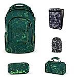 Satch Pack Green Compass Schulrucksack Set 5tlg
