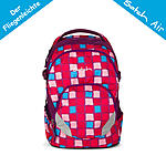 Satch air by ergobag Schulrucksack Candy Cane, karo rosa hellblau