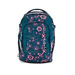 Satch by ergobag Schulrucksack Honey Bunny, petrolfarbend mit blumen
