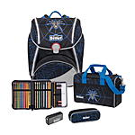 Scout Alpha Dark Spider Safety Light Schulranzenset 4 tlg.