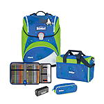 Scout Alpha Safety Light Blue Space Schulranzenset 4 tlg.