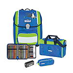 Scout Genius Safety Light Blue Space Schulranzenset 4 tlg.