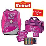 Scout Schulranzen-Set Alpha Purple Butterfly