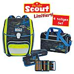 Scout Schulrucksack Genius Black City 4 teiliges Set