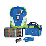 Scout Sunny II Safety Light Blue Space Schulranzenset 4 tlg.