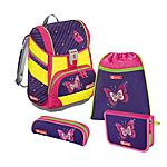 Step by Step 2in1 Shiny Butterfly DIN 4 teiliges Schulrucksackset