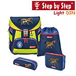 Step by Step Light DIN Horse Family Schulranzen-Set 4-tlg.