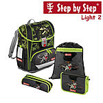Step by Step Light2 T-Rex, 4 tlg Schulranzen Set