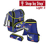 Step by Step Light2 Top Soccer, 4 tlg Schulranzen Set
