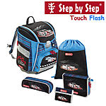 Step by Step Touch Flash Cool Racer, 5 tlg Schulranzen Set