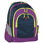 Take it Easy Schulrucksack Berlin Light Nylon 188, blau lila