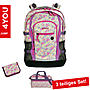 4YOU 3 teiliges Schulrucksack Set, Jump Pixel Sunset