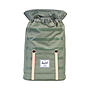 Herschel Rucksack Retreat Deep Lichen Green Stripe Veggie Tan