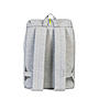 Herschel Post Mid-Volume Light Grey Crosshatch Light Grey Rubber