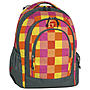 Take it Easy Schulrucksack Berlin Arrow, orange kariert